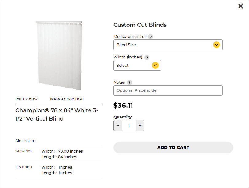 Customize blinds