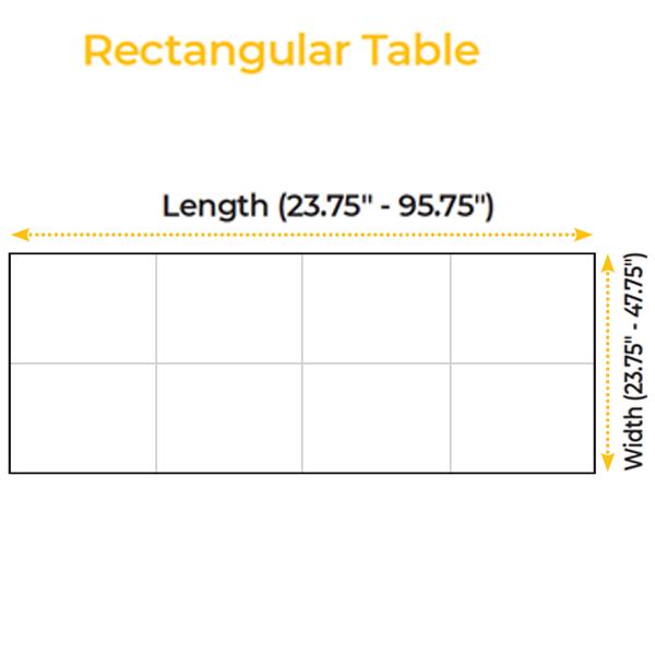 Rectangular Table Specs