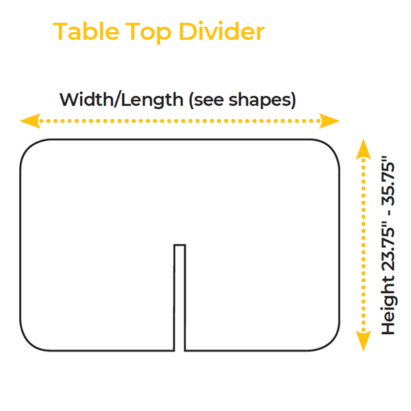 Table Top Divider Specs