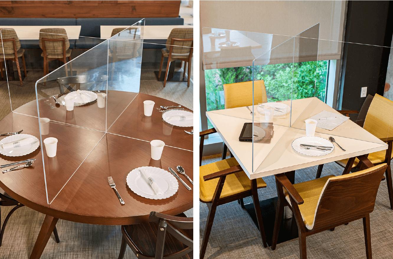 Custom Cut Acrylic Table Top Barriers